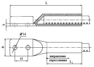 Зажимы аппаратные прессуемые А2M-120-2